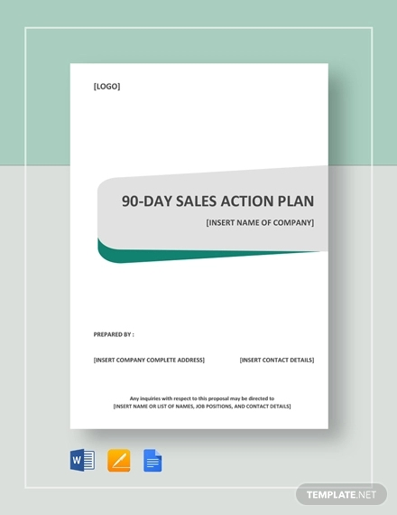 90 day sales action plan example