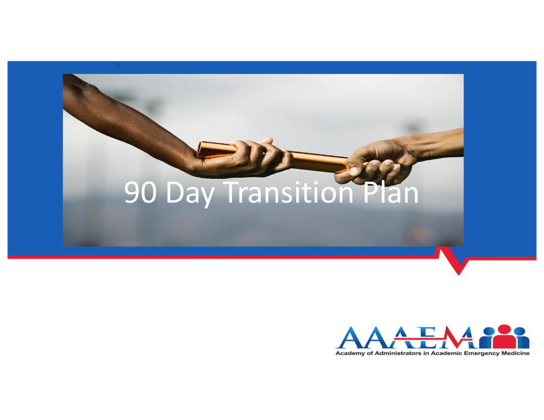 90 day transition plan in a new job example