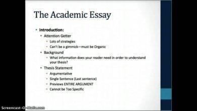 academic essay writing format