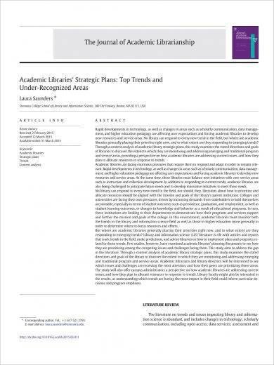 academic library strategic plan example