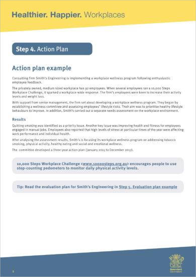 action plan for workplace and employee development example