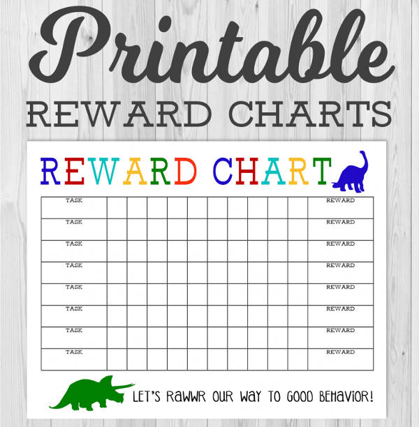 adorable reward chart for kids
