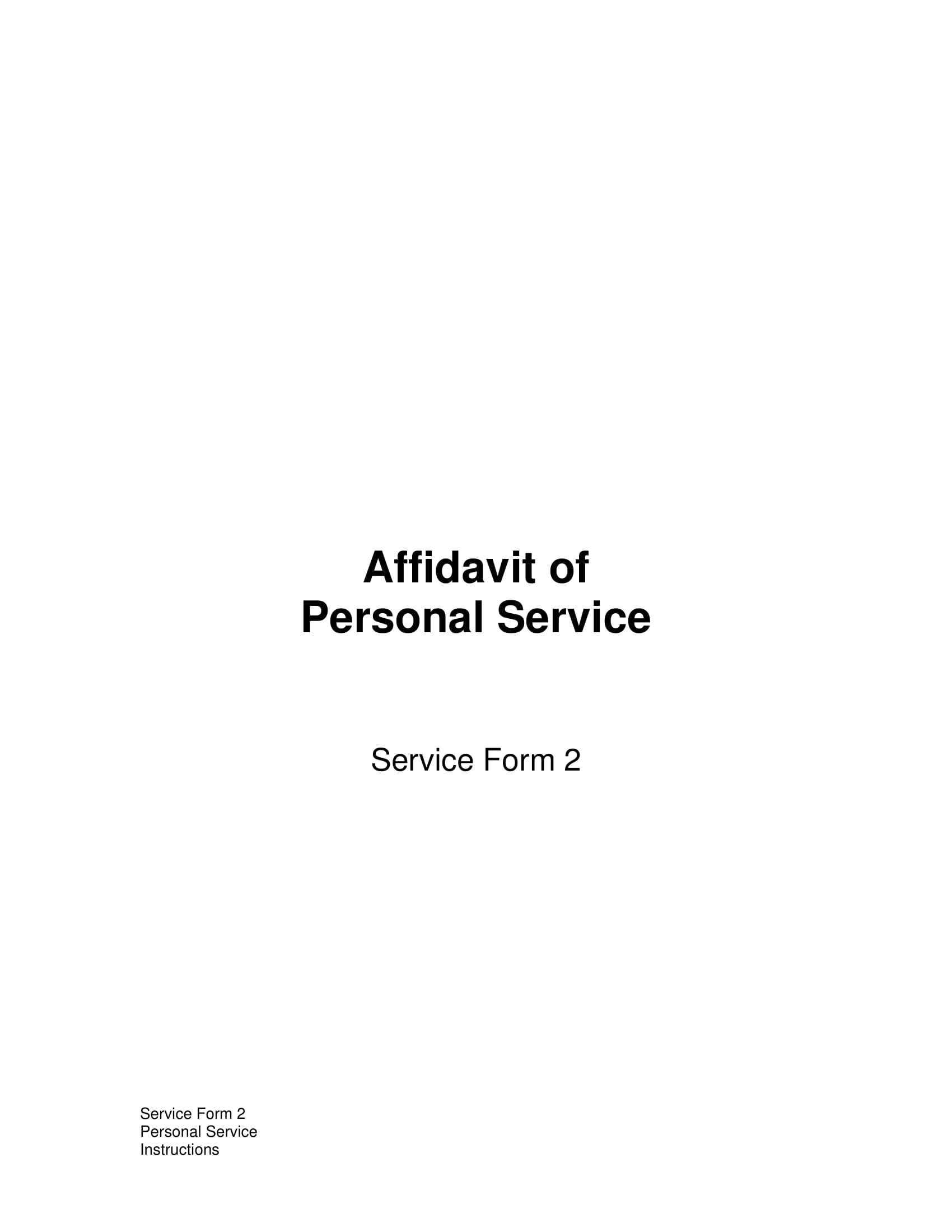 affidavit of personal service