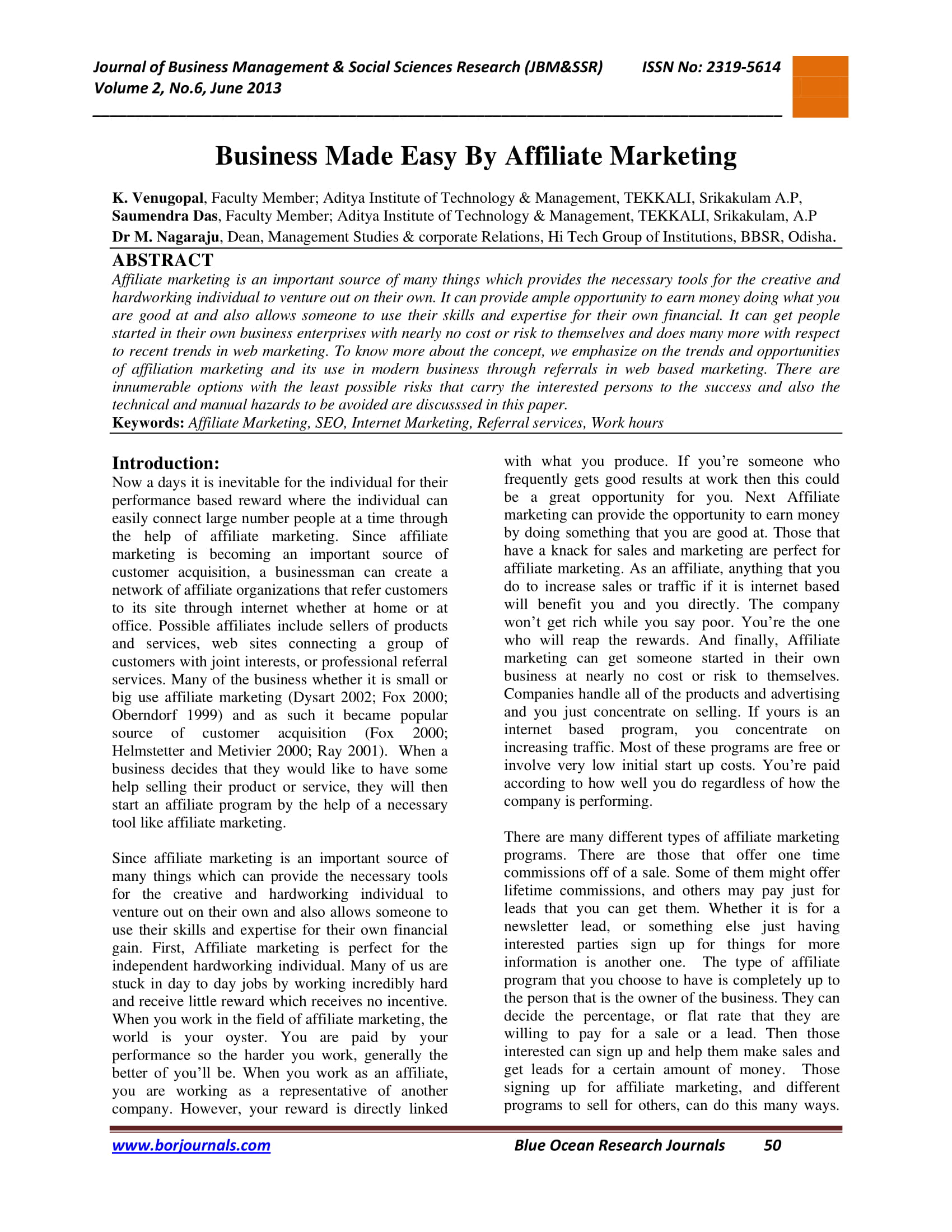 affiliate marketing introduction and example 1