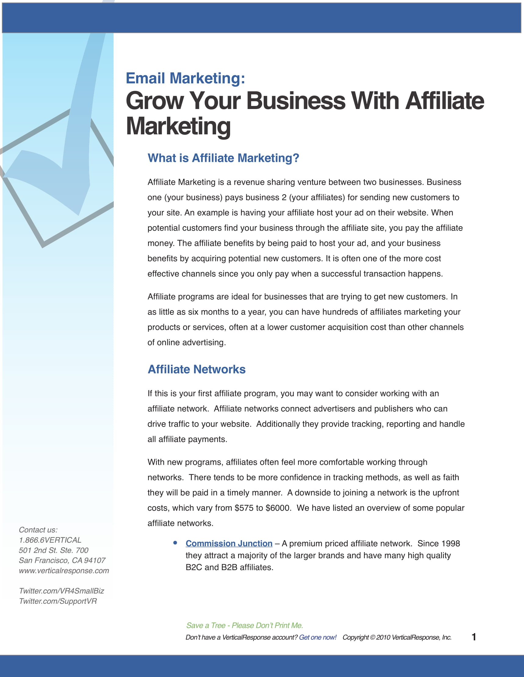 affiliate marketing plan guide and example 1