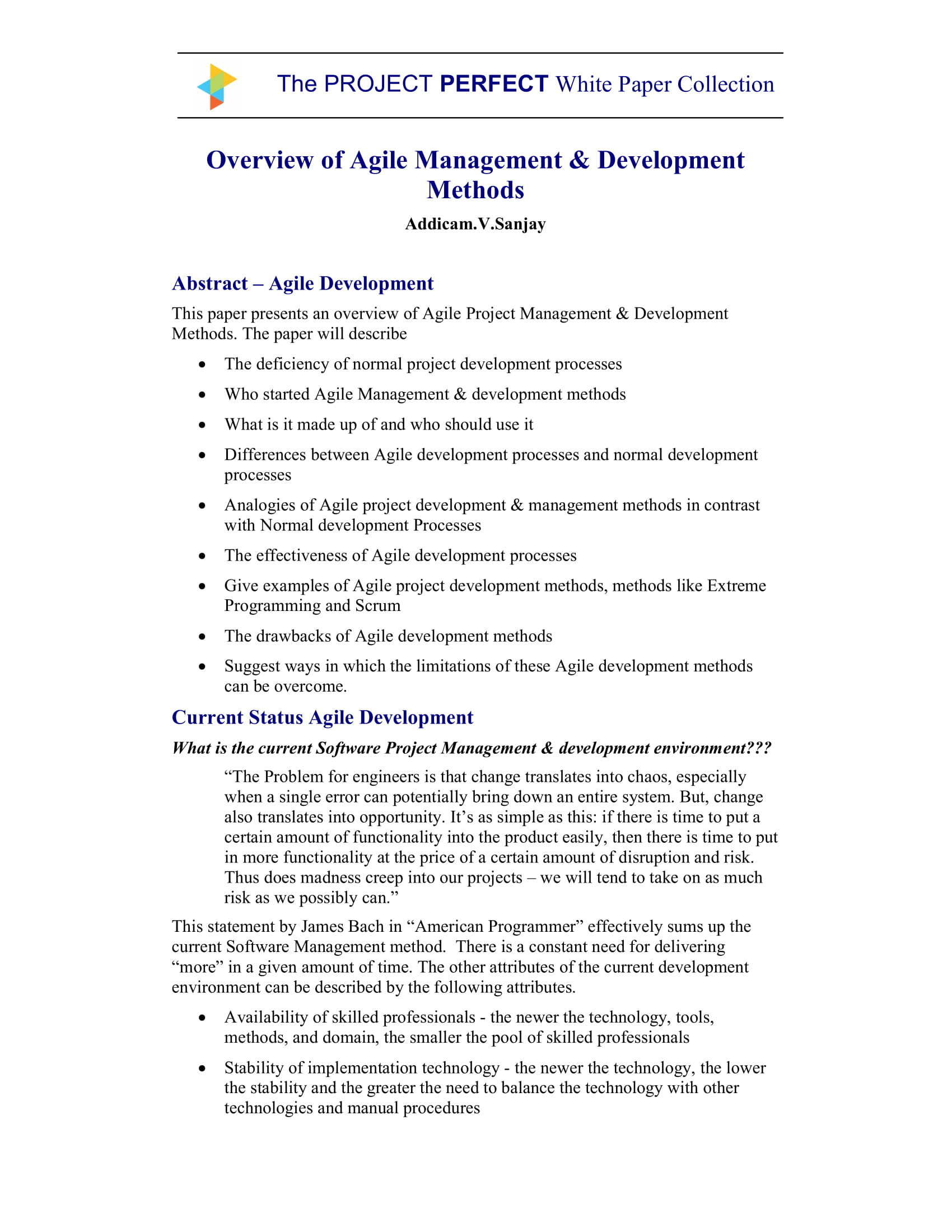 agile project management and development plan example 01