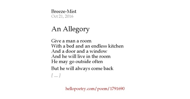 allegory in a short poem example