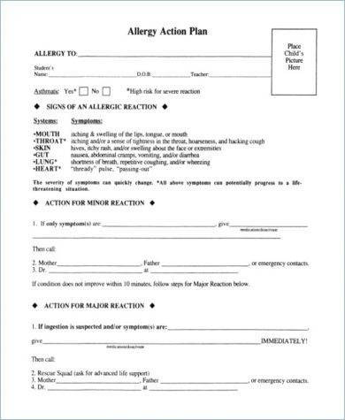 allergy action plan template1