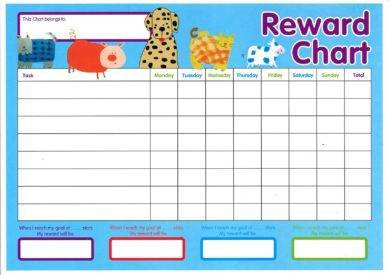 animal reward chart for kids example1