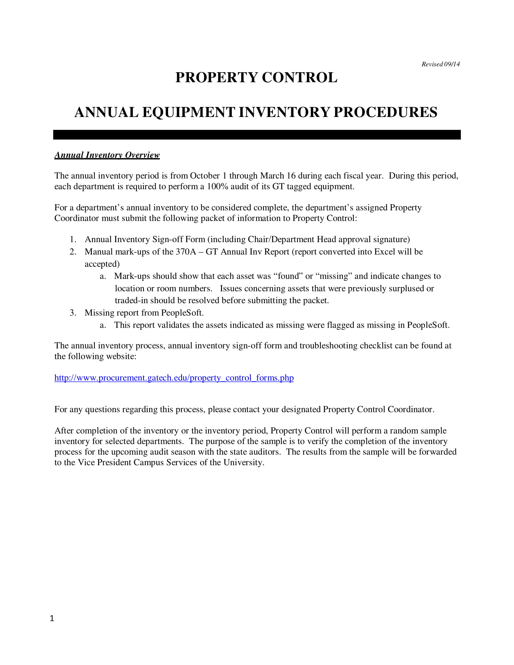 annual equipment inventory procedures example 01
