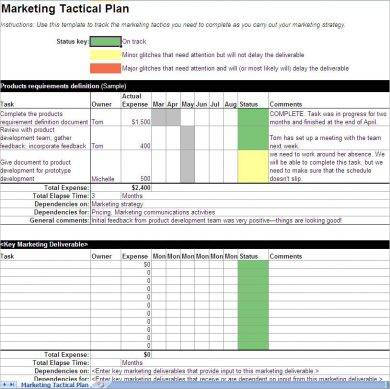 annual marketing tactical plan example1