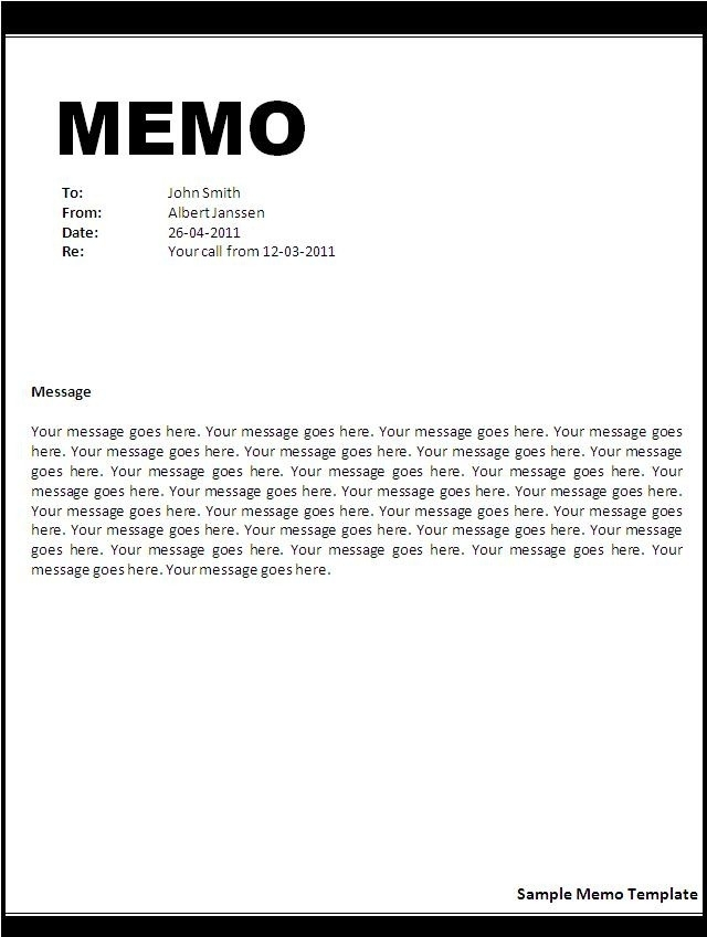another memo example