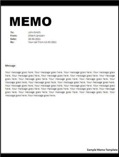 another memo example1