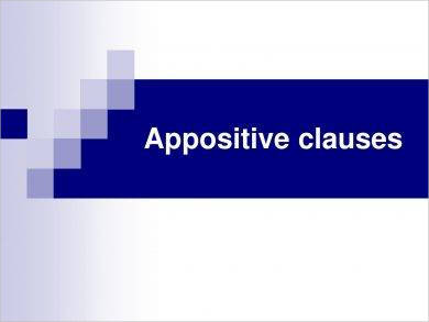 appositive clauses example