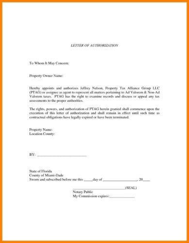 20  authorization letter format examples