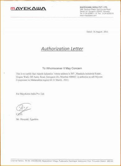 20 authorization letter format examples pdf authorization letter format for business exampl spiritdancerdesigns Images
