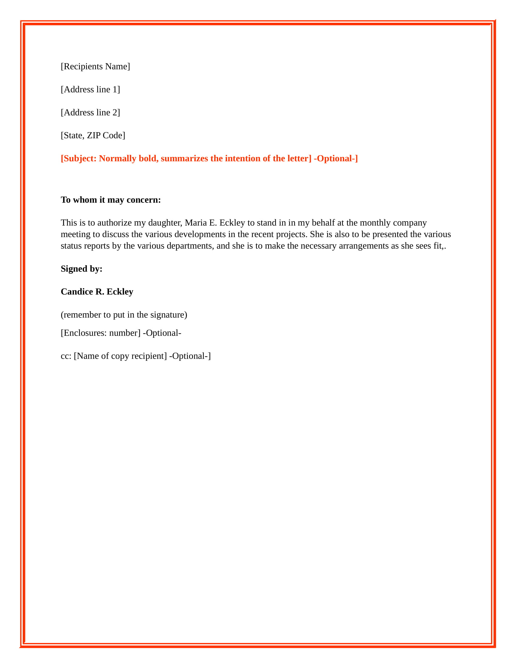 letter of authorization examples 9 financial authorization letter examples pdf examples 18089 | Authorization Letter Sample to Act on Behalf