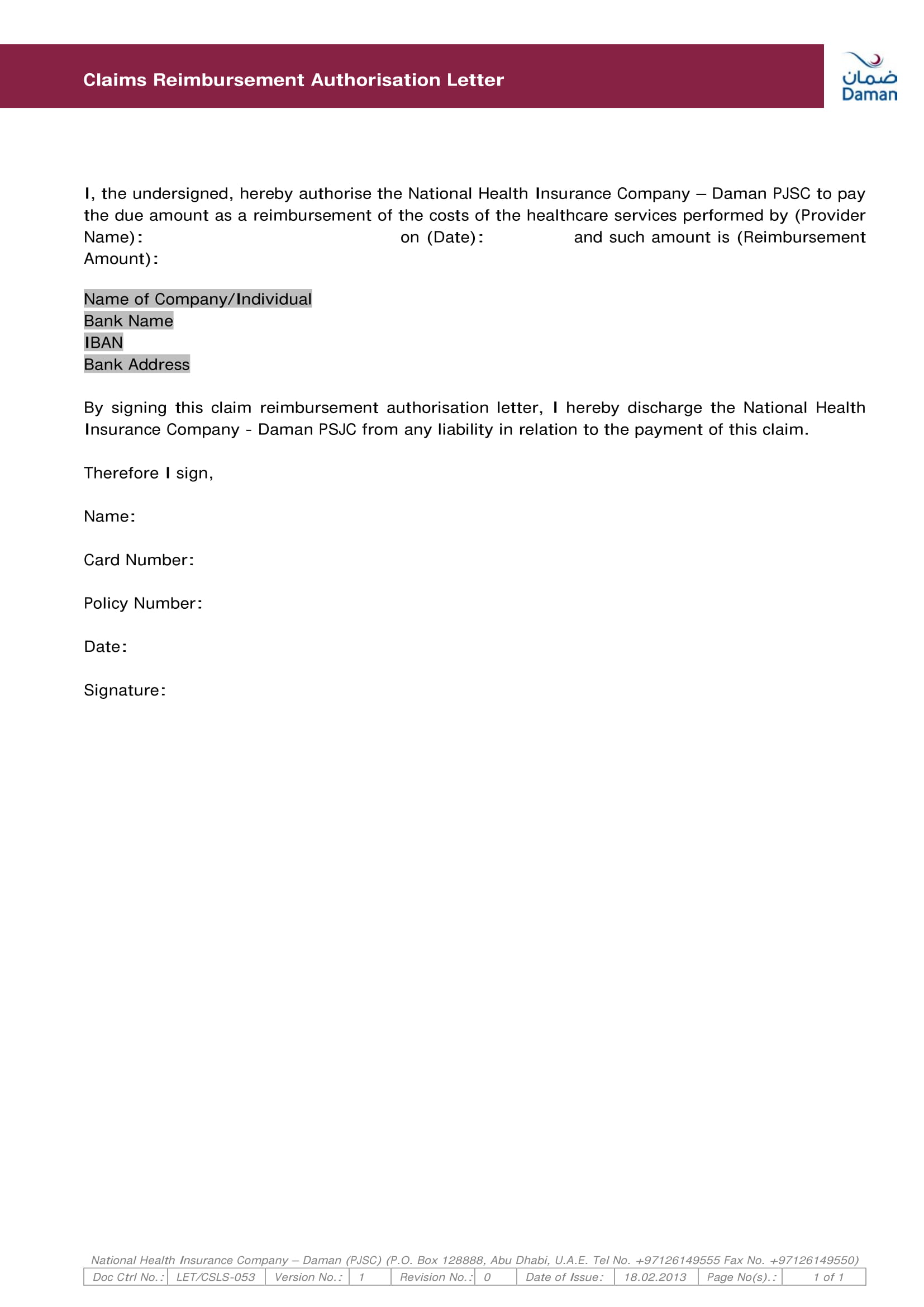 sample letter of claim to insurance