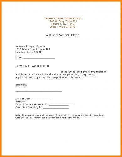 20 Authorization Letter Format Examples Pdf