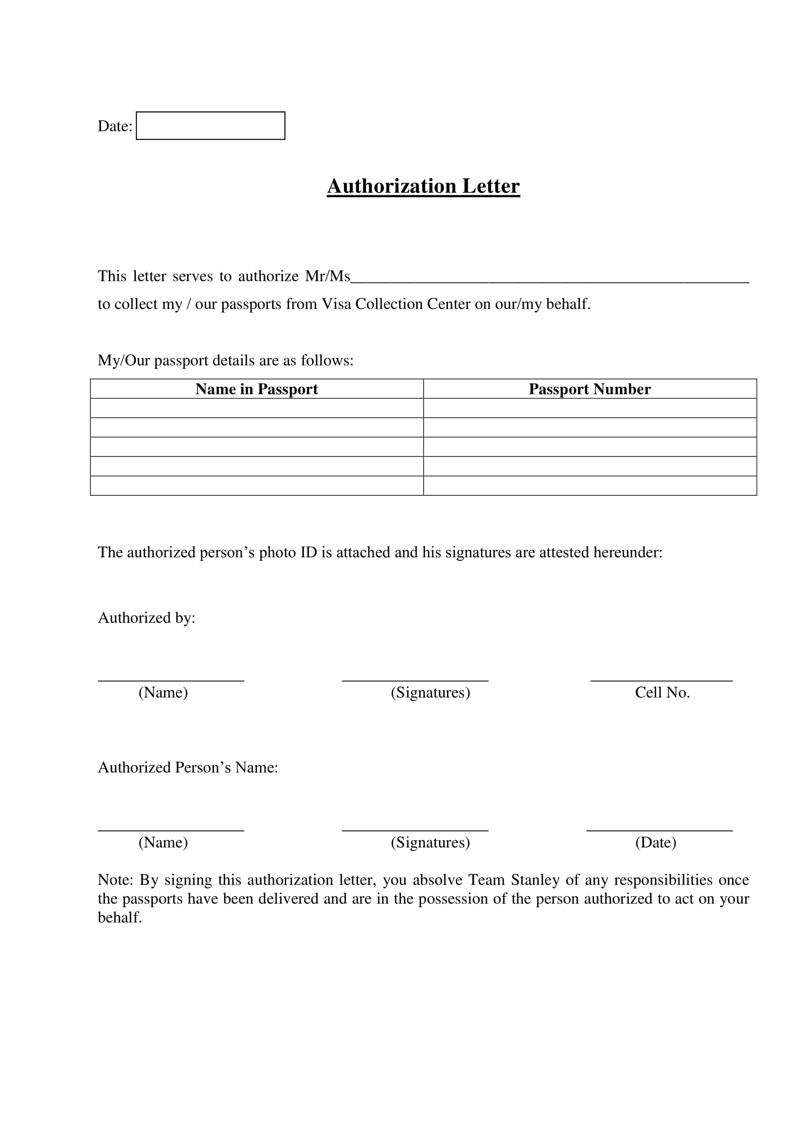 9  authorization letter to receive documents examples
