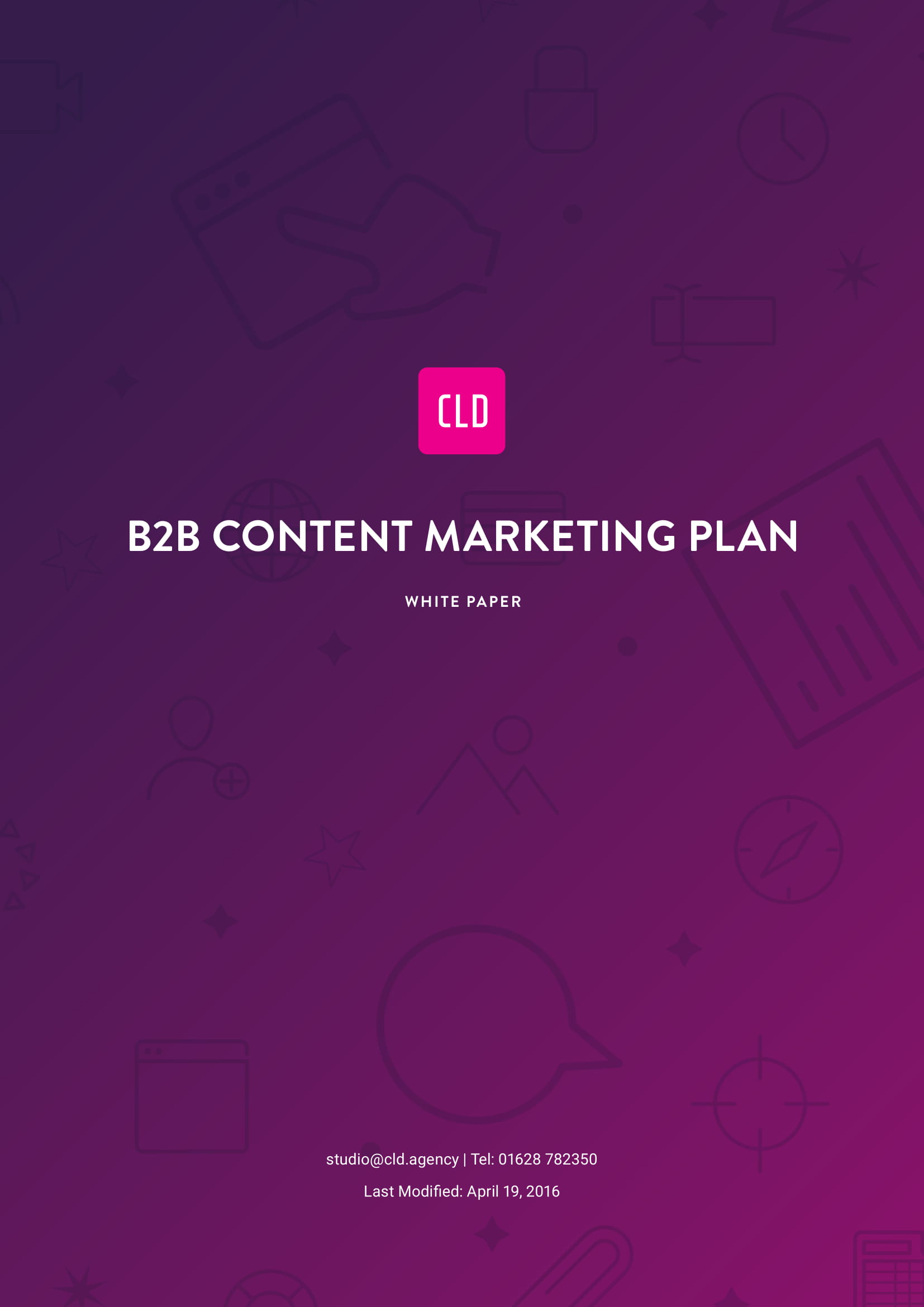 b2b content marketing plan example