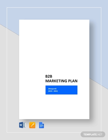b2b marketing plan template