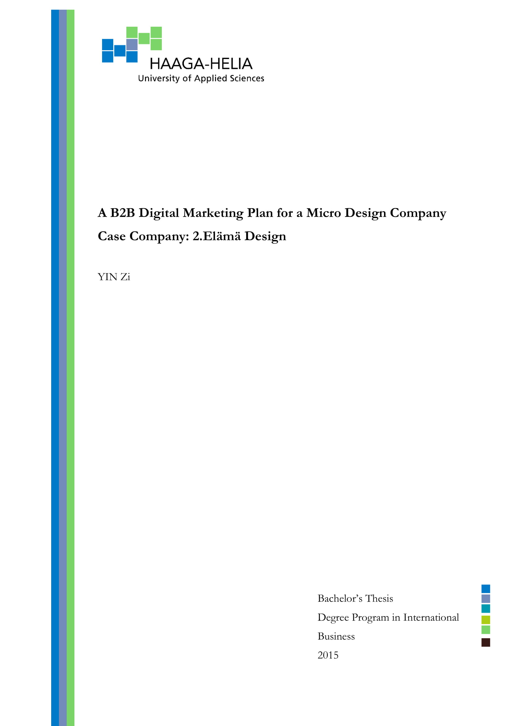 b2b marketing plan for micro design company example