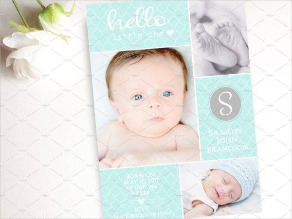 baby blue pregnancy announcement card example1