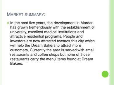 bakery market summary1