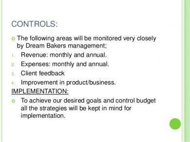 bakery marketing controls and implementation1