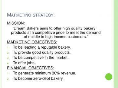 bakery marketing strategy with objectives1