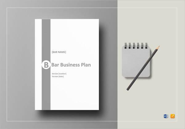 bar business plan example