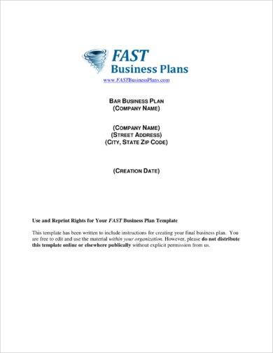 13 bar business plan examples pdf bar business plan template example flashek Choice Image