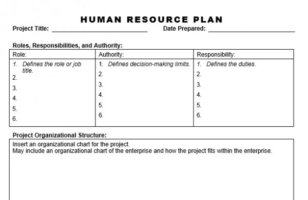 basic human resource strategic plan example