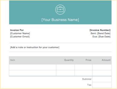 basic invoice document example