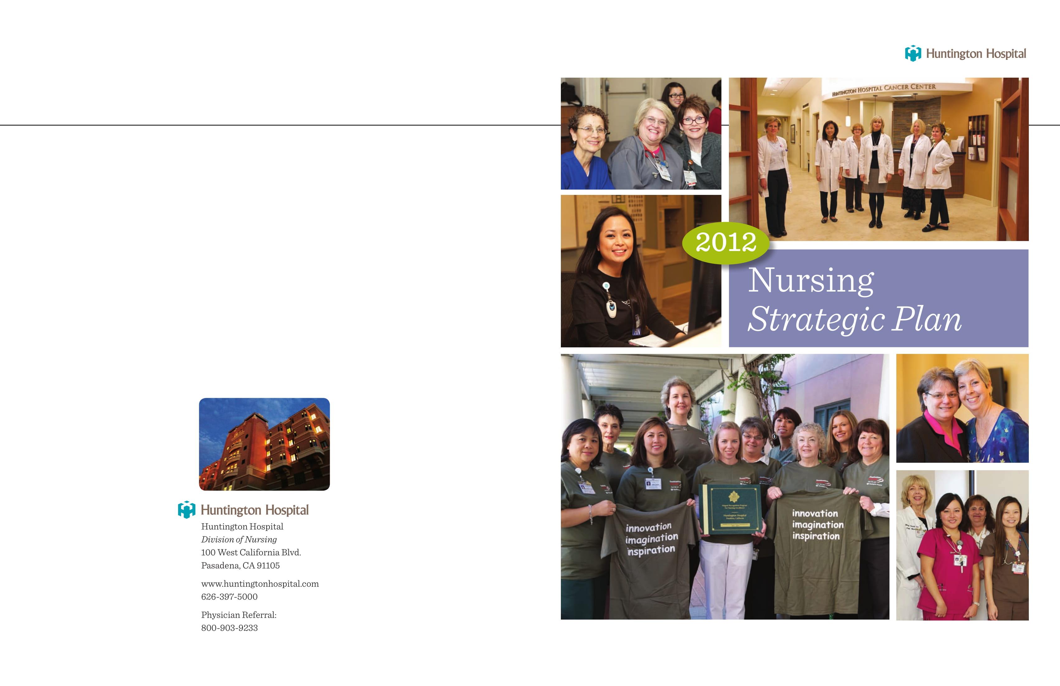 basic nursing strategic plan example 1