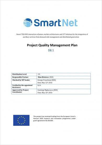 basic project quality management plan example