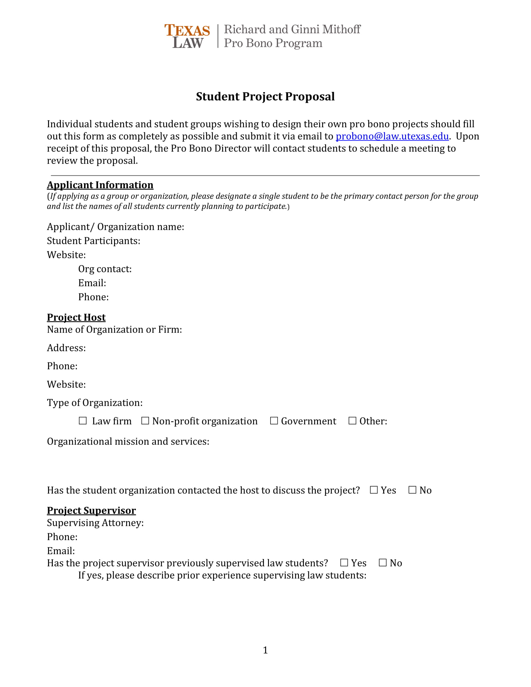 basic student project proposal example 1