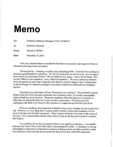 21  memo writing examples