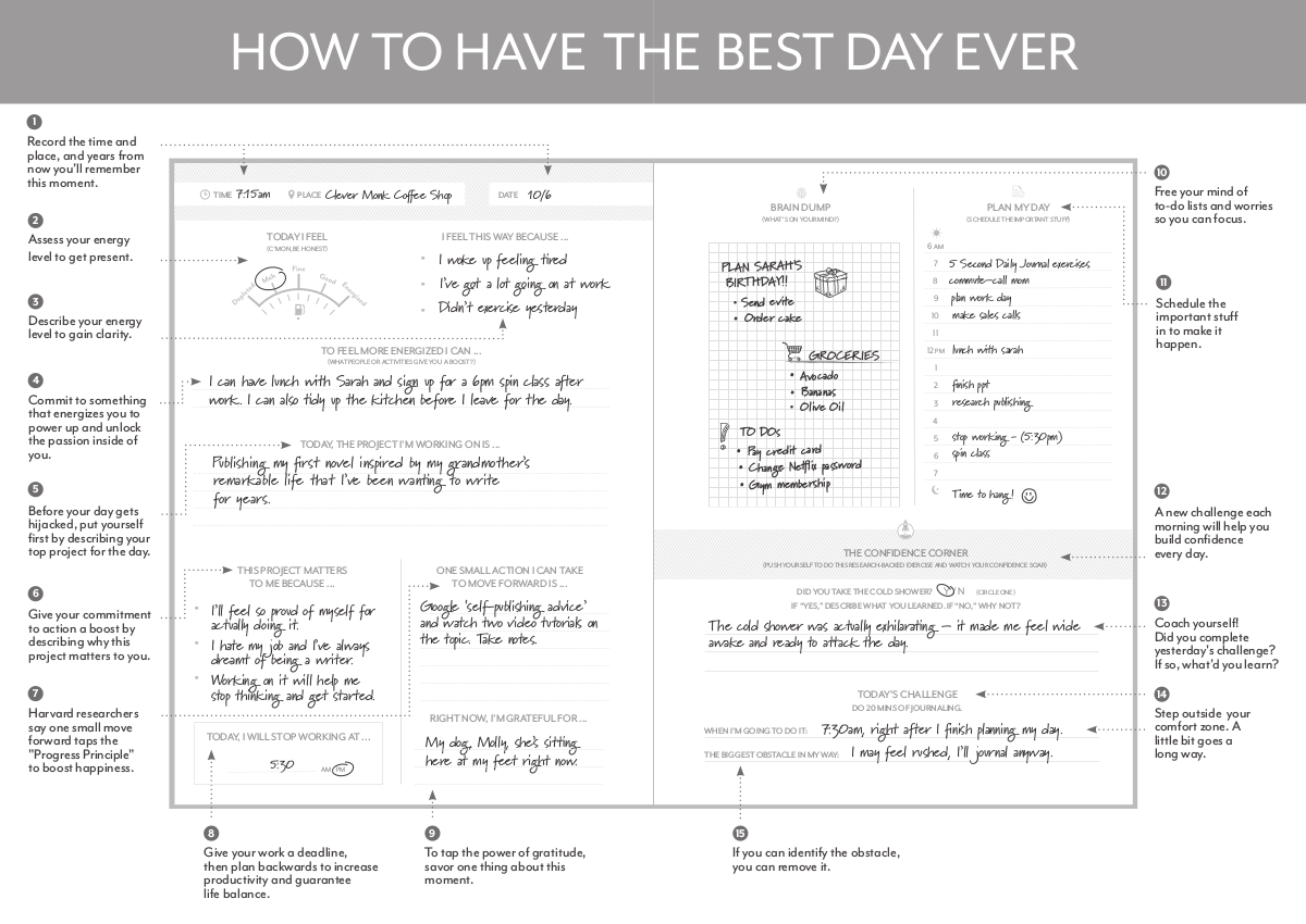 best day daily journal example