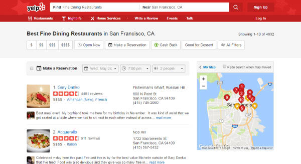 best fine dining restaurants in san francisco california according to yelp