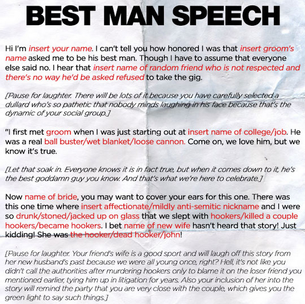 11+ Best Man Speech Examples - PDF