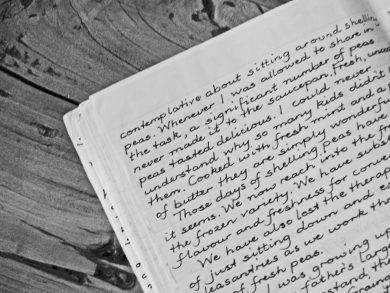 black and white journaling