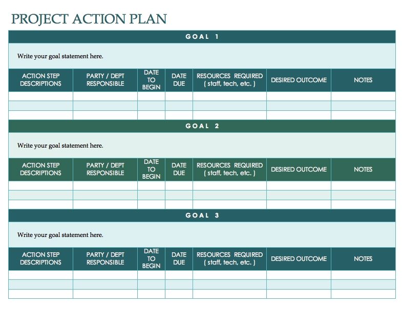 blank nonprofit project action plan example