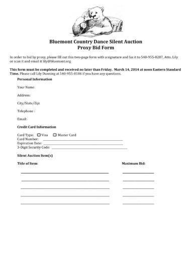 bluemont country dance silent auction proxy bid form example1