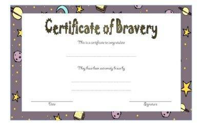 bravery award certificate template1