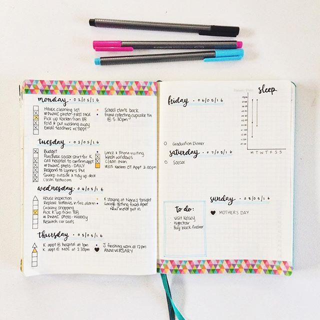 Bullet Personalized Journal Example