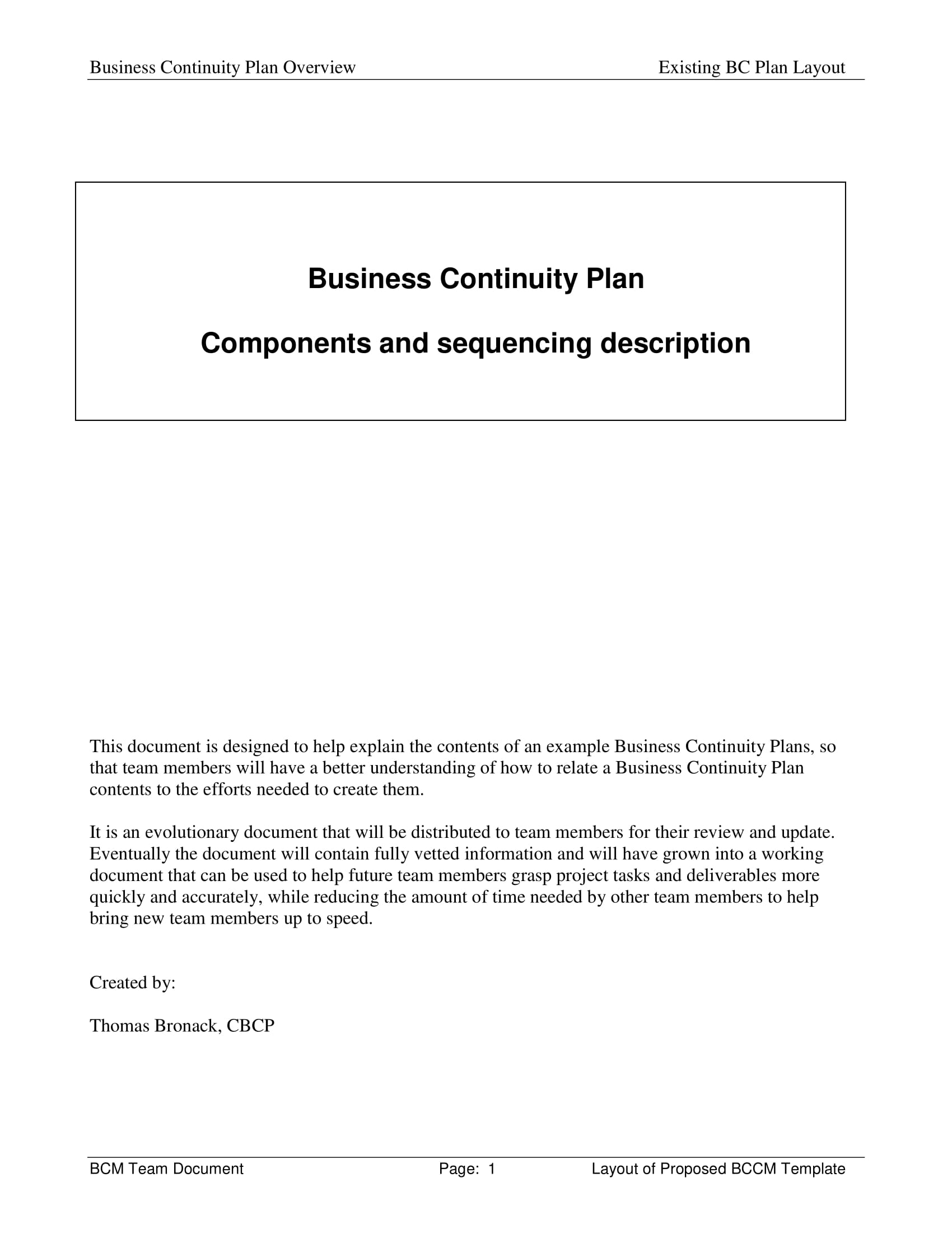 business continuity plan components and sequencing description example 01