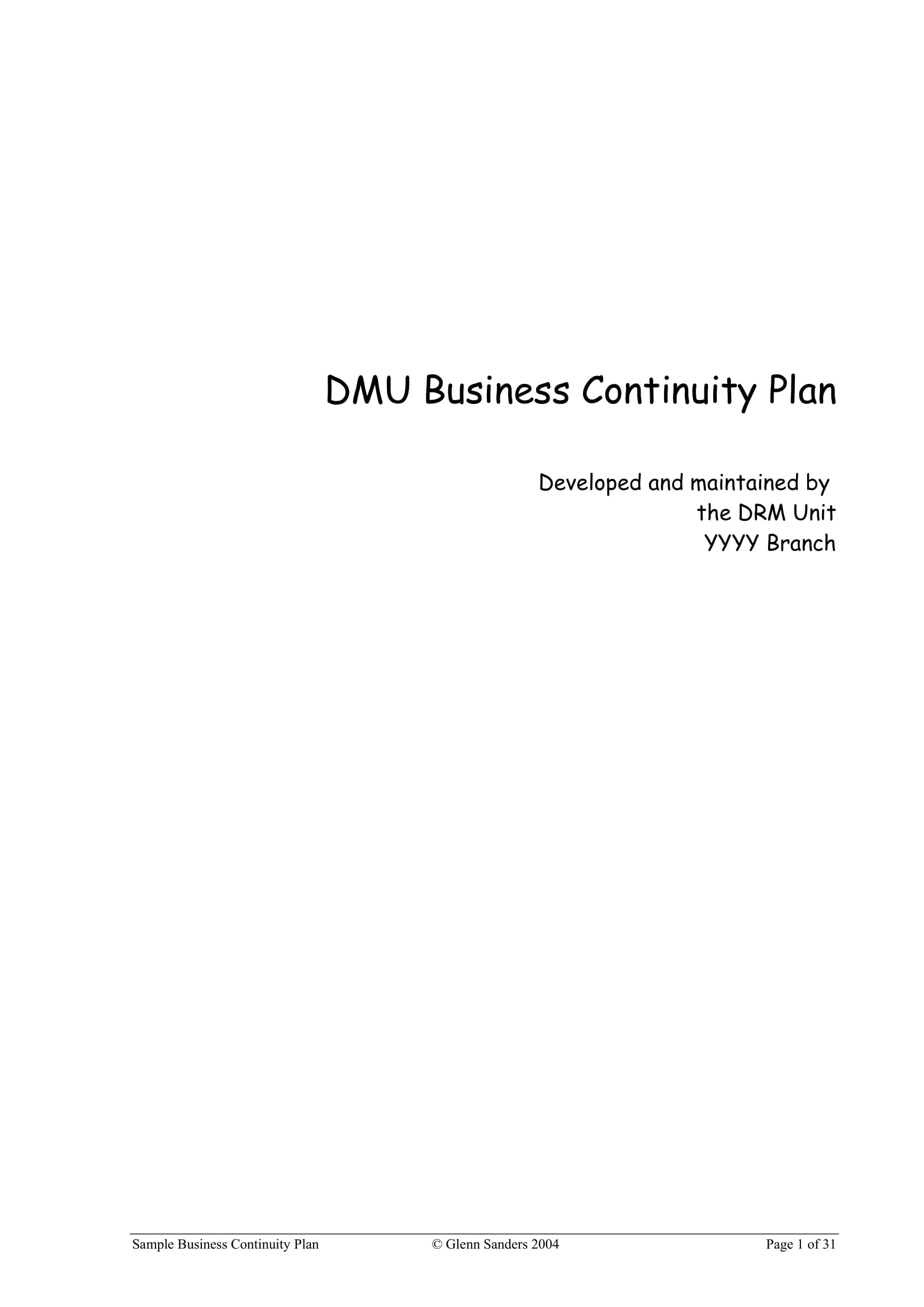 business continuity plan example 01