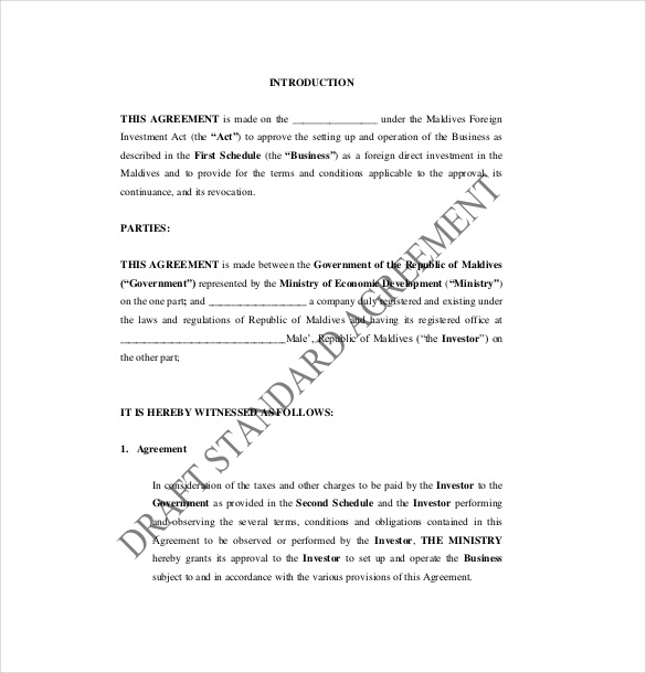 10 Business Investment Agreement Examples Pdf